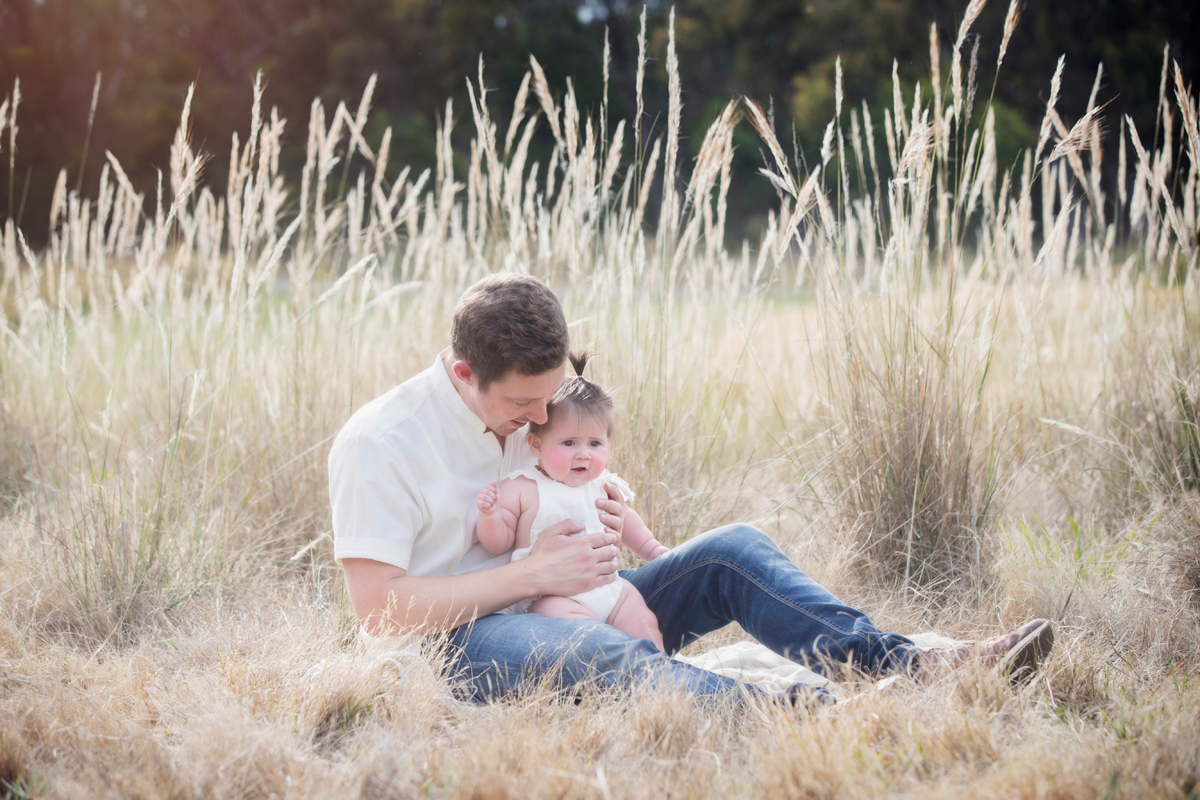 father and baby portraits lifestyle photography outdoor